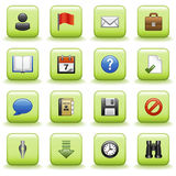 Stylized icons set 01. Vector icons set for websites, guides, booklets royalty free illustration