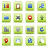 Stylized icons set 02 Stock Photos