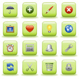 Stylized icons set 04 Royalty Free Stock Photo