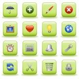 Stylized icons set 04 Royalty Free Stock Photo