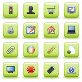 Stylized icons set 05. Vector icons set for websites, guides, booklets Stock Image