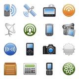 Stylized icons set 07 Stock Images