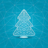 Stylized  illustration of a Christmas tree Royalty Free Stock Photo