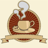 Stylized illustration of a coffee or tea cup Stock Photos