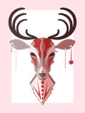 A stylized illustration of a deer Stock Photos