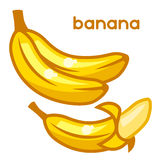 Stylized illustration of fresh bananas on white Stock Photography