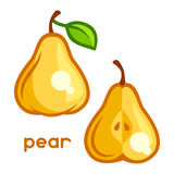 Stylized illustration of fresh pear on white Stock Images