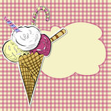 Stylized illustration ice cream Stock Images