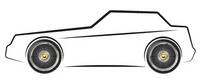 Stylized image of the car royalty free illustration