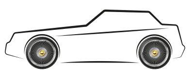 Stylized image of the car Royalty Free Stock Image