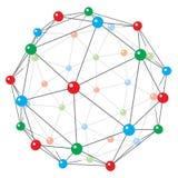 The stylized image of the crystal lattice Royalty Free Stock Image