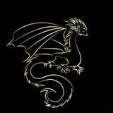 Stylized image of Dragon Stock Photography