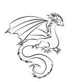 Stylized image of Dragon Royalty Free Stock Image