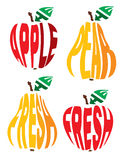 Stylized image in the form of apple and pear Stock Image