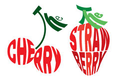 Stylized image in the form of cherry and strawberry Stock Photo