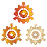 The stylized image of gears. Stock Image