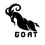 Stylized image of a goat silhouette Stock Photography