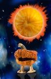Stylized image of pumpkin on Halloween holiday close-up Stock Photo