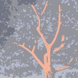 Stylized image of a tree crown stock illustration