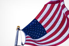 Stylized Image of Unites States Flag Pole Stock Images