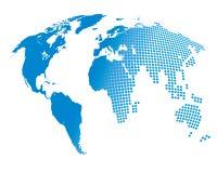Stylized image of the world map Stock Photos