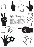 Stylized images of hands Stock Images