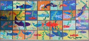 Stylized images of salmon Royalty Free Stock Image
