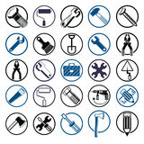 Stylized industrial icons, 3d work tools collection. Set of repa Stock Photography