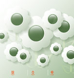 Stylized infographic template with flower bubbles Royalty Free Stock Image