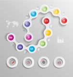 Stylized infographics presentation,option template Royalty Free Stock Images