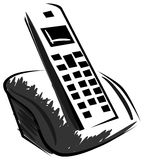 Stylized isolated cordless telephone Royalty Free Stock Photos