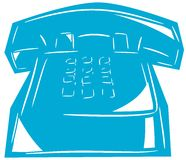 Stylized isolated telephone Royalty Free Stock Photo