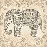 Stylized lacy elephant Stock Photography