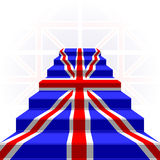 The stylized ladder. Flag of Great Britain. The stylized ladder on a light background. Flag of Great Britain Stock Images