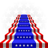 The stylized ladder. Flag of the USA Stock Image