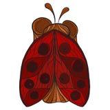 stylized ladybug Stock Image