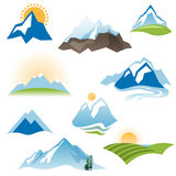 Stylized landscape icons Stock Photography