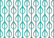 Stylized leaf pattern Stock Photography