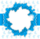 Stylized leaves circle background. Stylized leaves blue background Vector Illustration