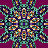 Stylized leaves mandala vector illustration tribal Stock Photos