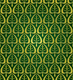 Stylized leaves seamless pattern. Stock Photo