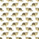 Stylized leopard cartoon style. Background. Stylized leopard cartoon style. Seamless vector pattern Stock Photo