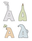 The stylized letters. A. illustration Stock Images