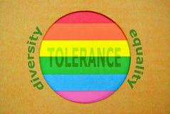 Stylized LGBT flag Stock Image