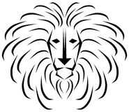 Stylized  lion in black and white Royalty Free Stock Photos