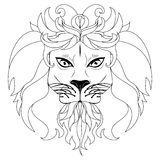 Stylized Lion Head Stock Photos
