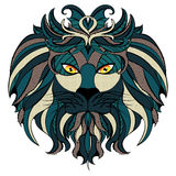 Stylized Lion Head Royalty Free Stock Images