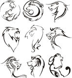 Stylized lion heads Royalty Free Stock Image