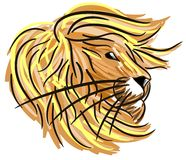 Stylized lion isolated Stock Photo