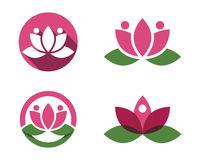 Stylized lotus flower icon vector background Stock Image